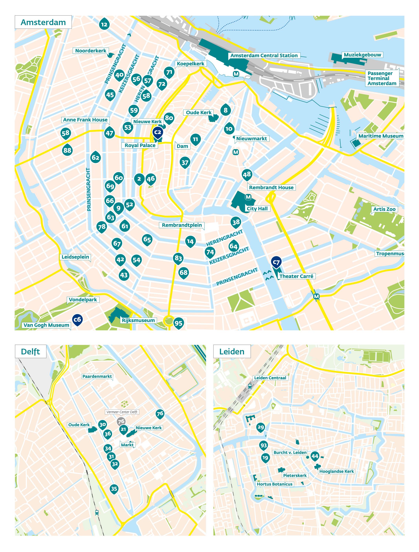 A FRONTMATTER 5 map Amsterdam Delft Leiden